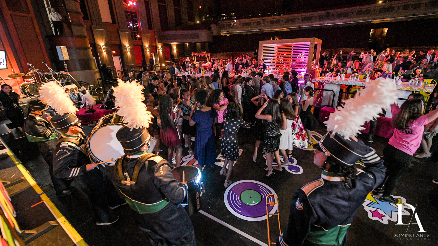 marching band at Music Festival Bat Mitzvah at The Fillmore Miami Beach by Domino Arts Photography