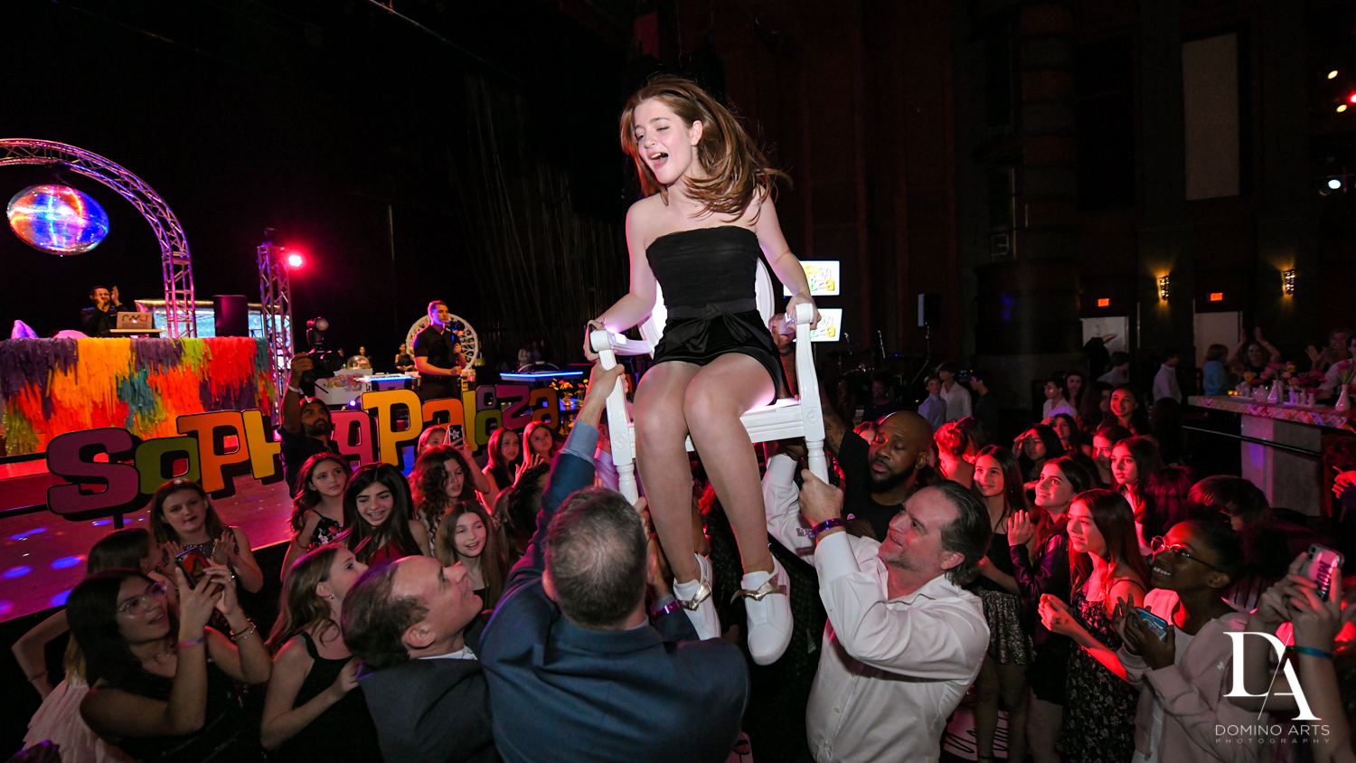 hora at Music Festival Bat Mitzvah at The Fillmore Miami Beach by Domino Arts Photography
