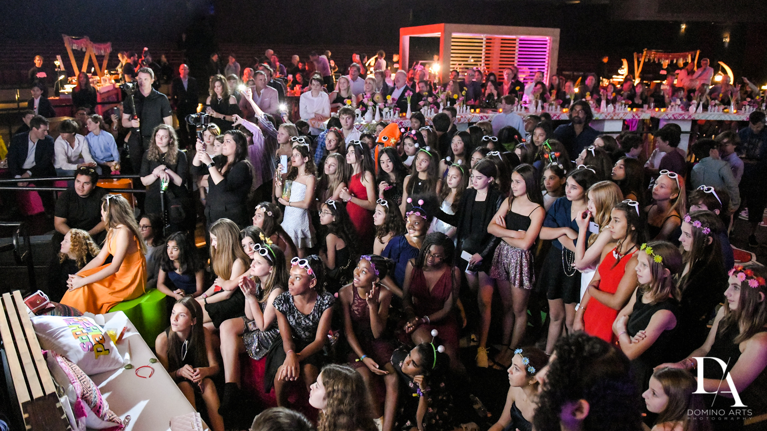 fun crowd at Music Festival Bat Mitzvah at The Fillmore Miami Beach by Domino Arts Photography