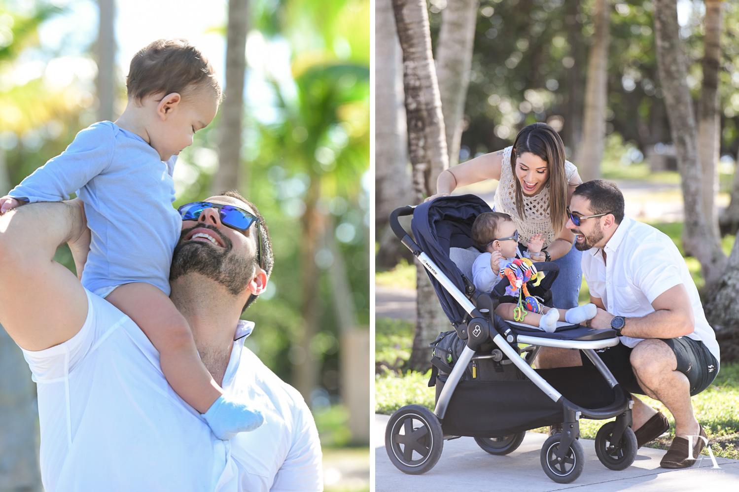 dad and son at Urban baby Photo Session in Coral Gables by Domino Arts Photography