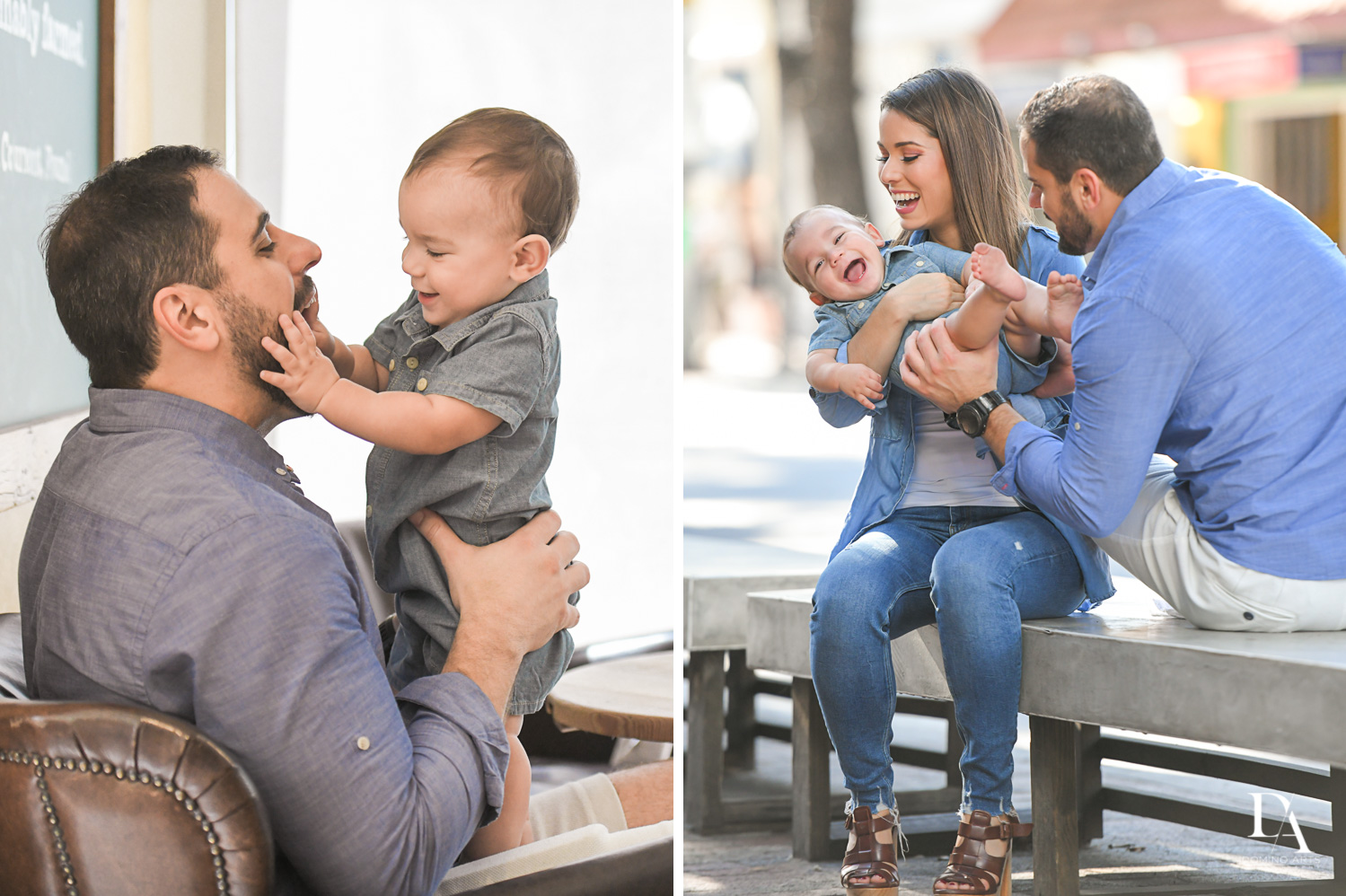 photojournalistic pictures at Urban baby Photo Session in Coral Gables by Domino Arts Photography