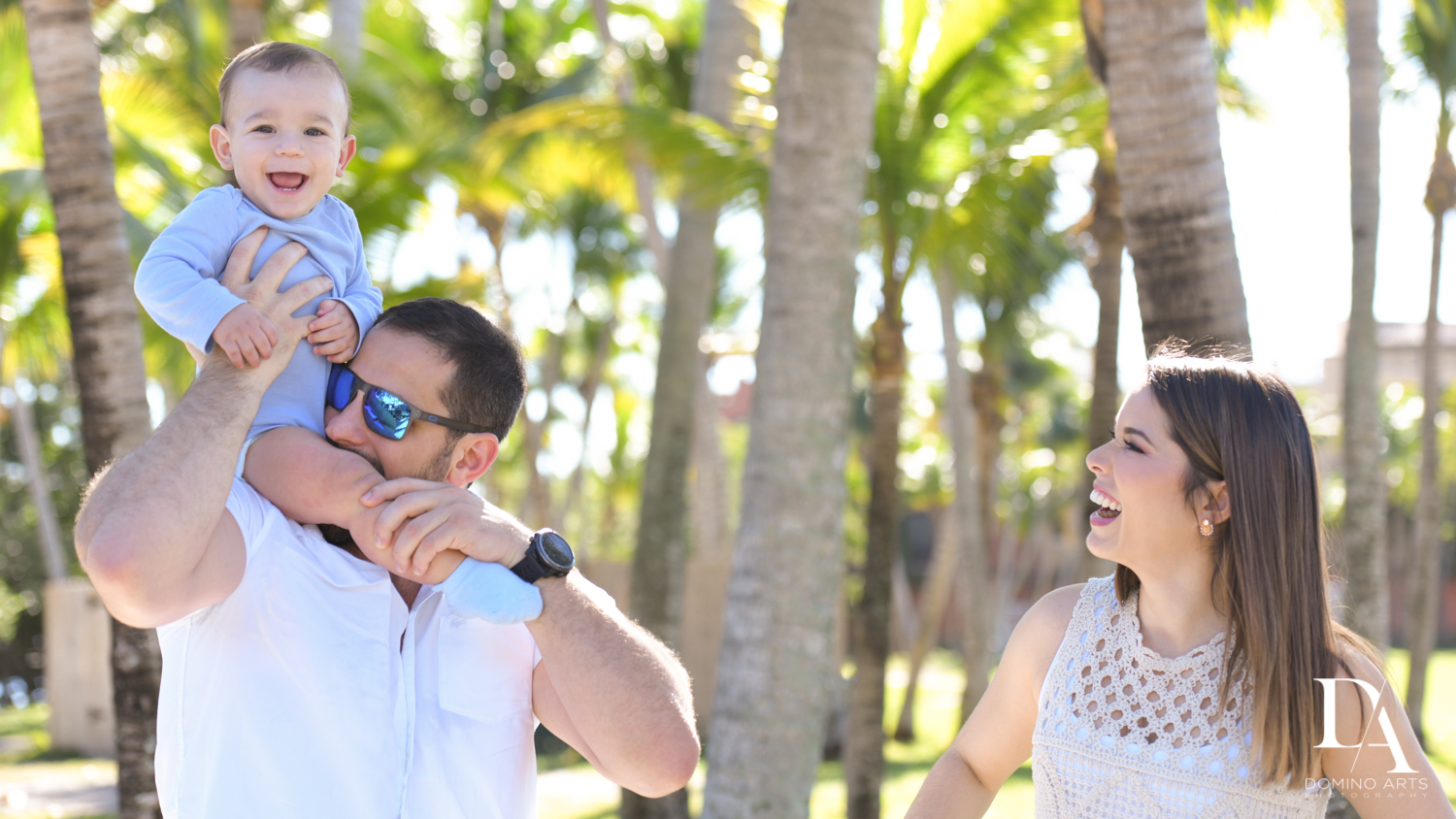 natural family photos at Urban baby Photo Session in Coral Gables by Domino Arts Photography