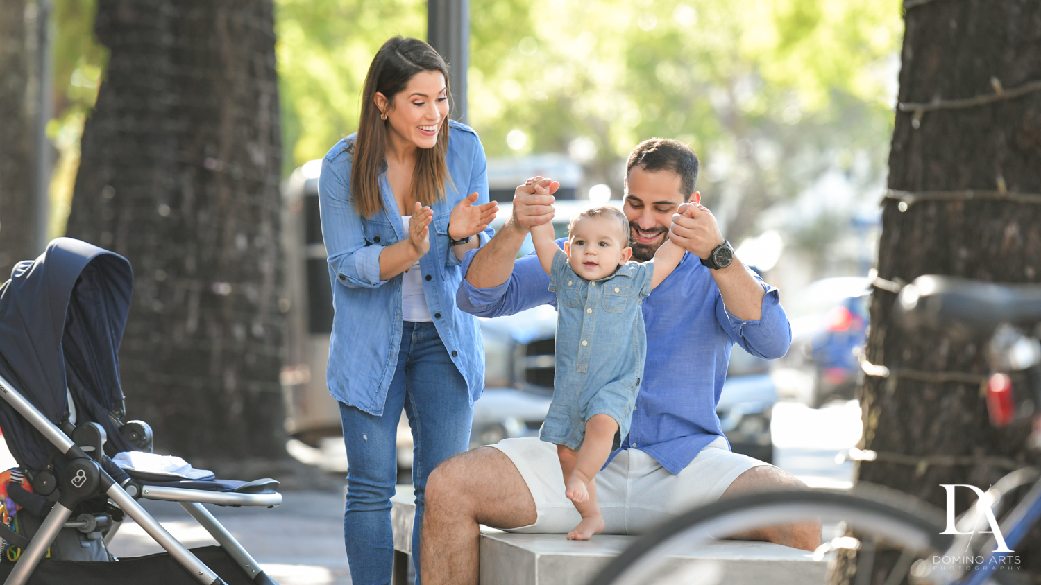 fun baby portraits at Urban baby Photo Session in Coral Gables by Domino Arts Photography