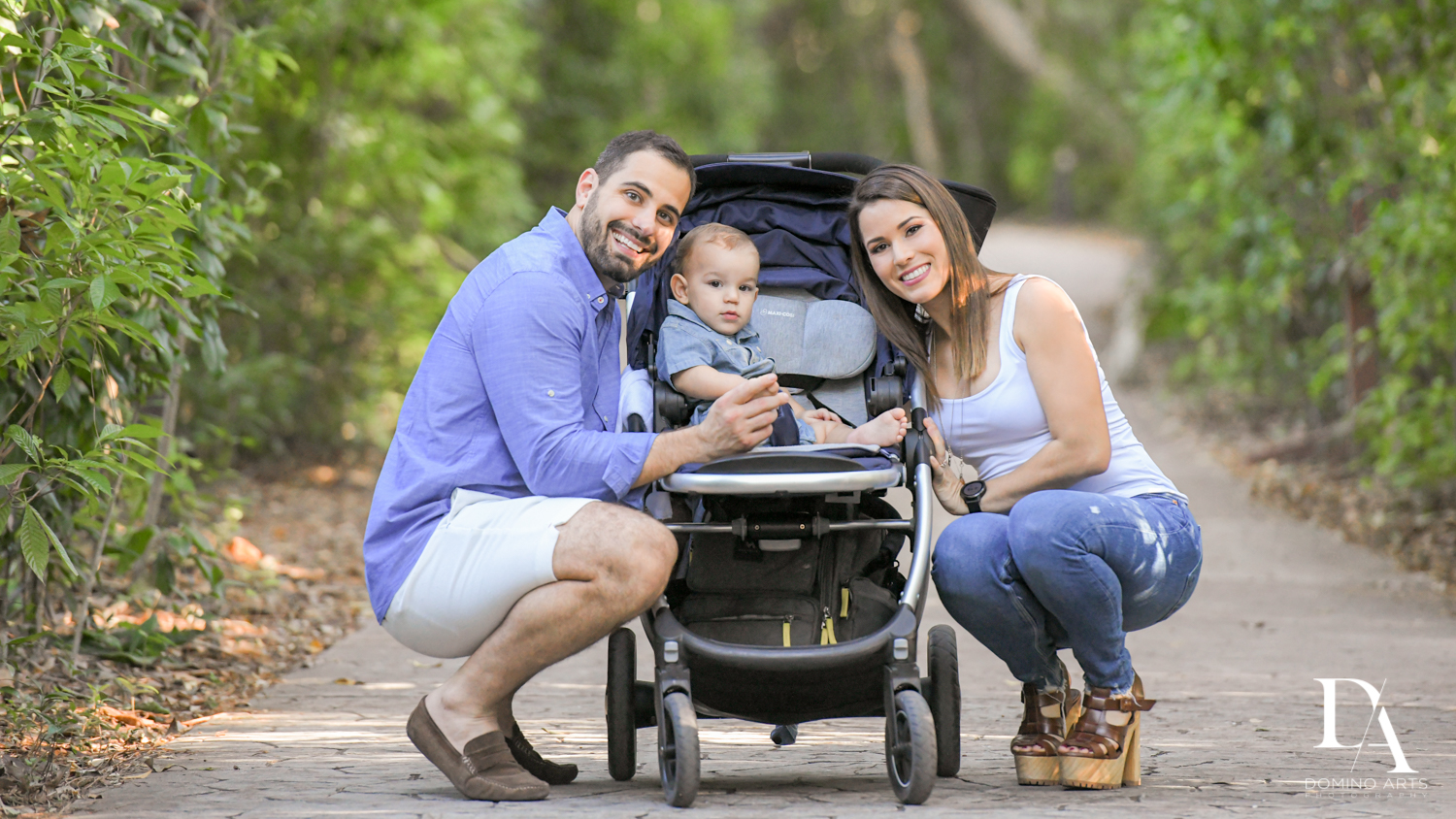 park pictures at Urban baby Photo Session in Coral Gables by Domino Arts Photography