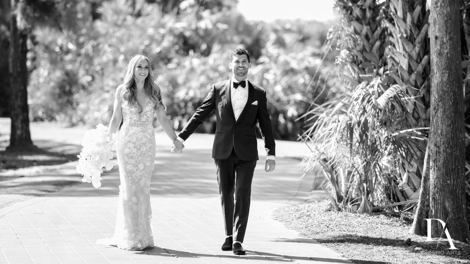 B&W pictures at Sunset Wedding at Boca Rio Golf Club by Domino Arts Photography