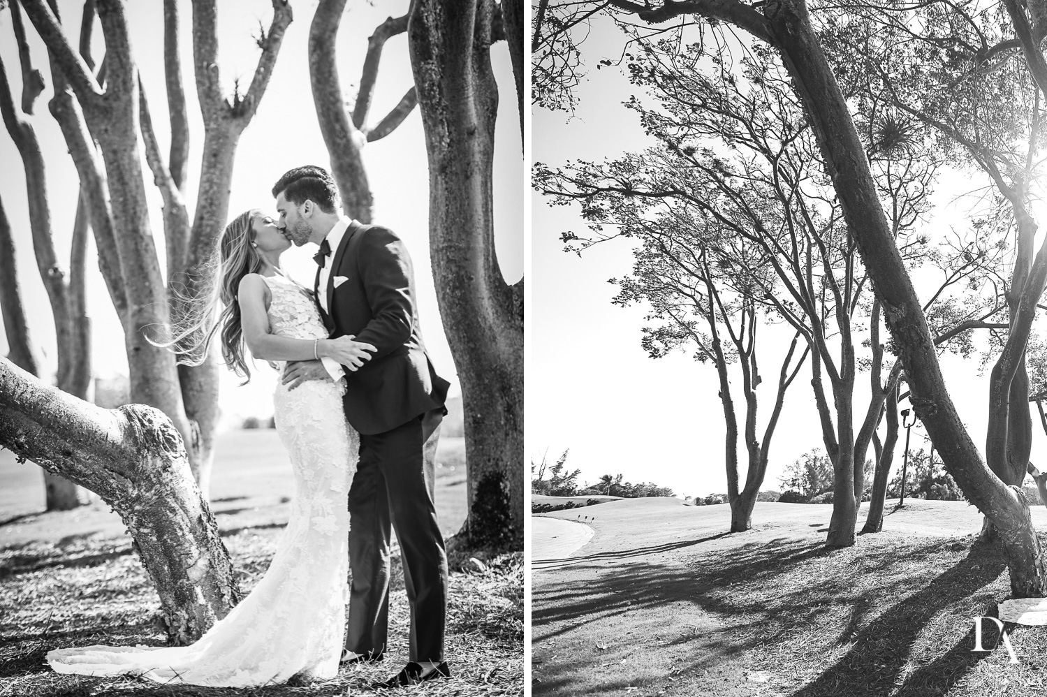 best black and white at Sunset Wedding at Boca Rio Golf Club by Domino Arts Photography