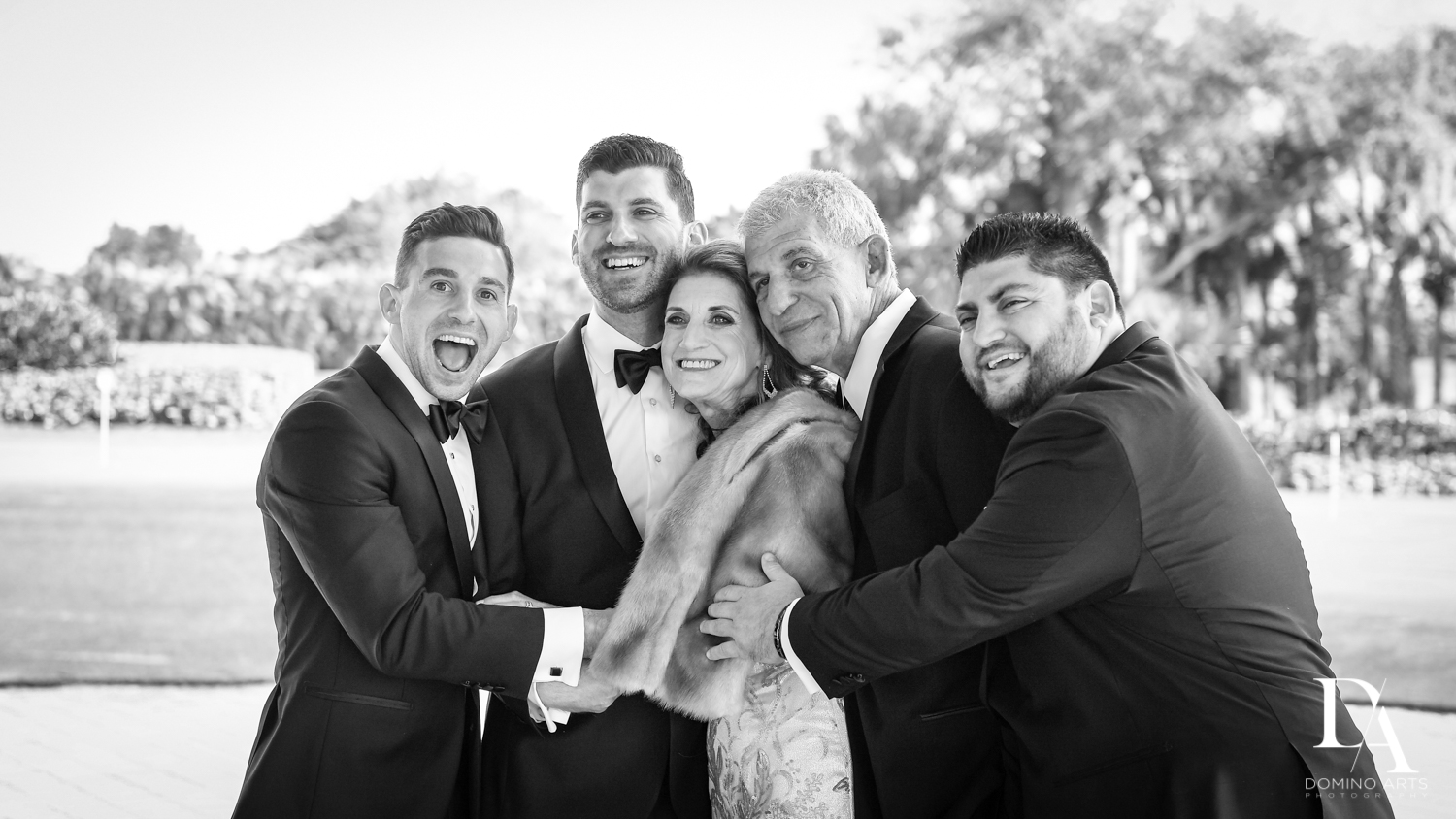 family shots at Sunset Wedding at Boca Rio Golf Club by Domino Arts Photography