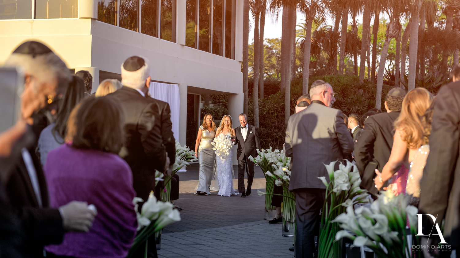 ceremony at Sunset Wedding at Boca Rio Golf Club by Domino Arts Photography