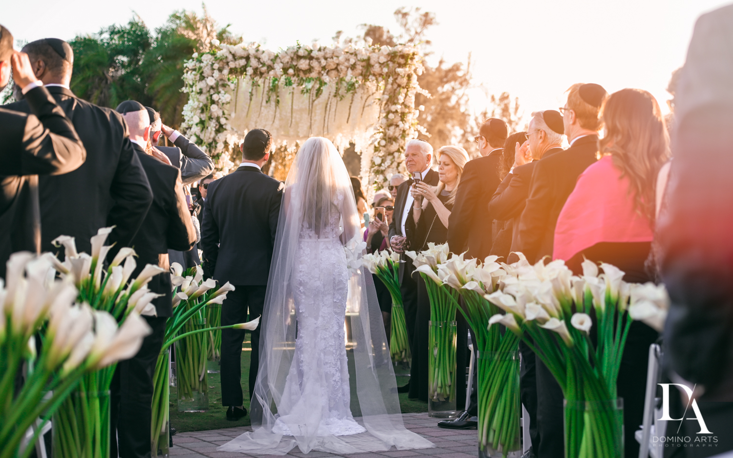perfect ceremony at Sunset Wedding at Boca Rio Golf Club by Domino Arts Photography