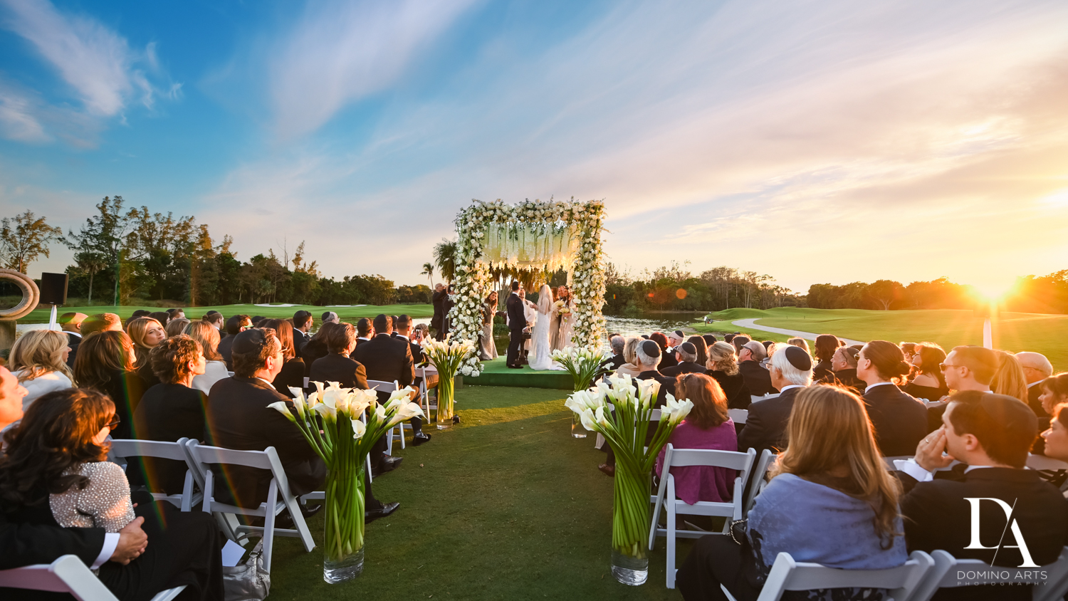 best picture at Sunset Wedding at Boca Rio Golf Club by Domino Arts Photography