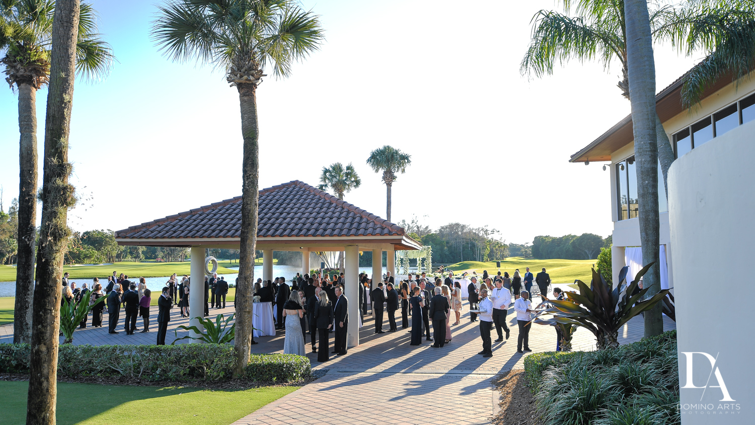outdoors cocktail at Sunset Wedding at Boca Rio Golf Club by Domino Arts Photography