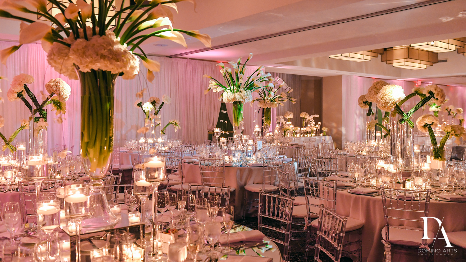 amazing decor at Wedding at Boca Rio Golf Club by Domino Arts Photography