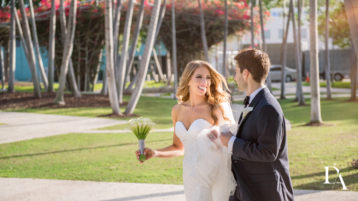 beautiful miami day at Tropical Luxury Jewish Wedding in Miami Beach by Domino Arts Photography