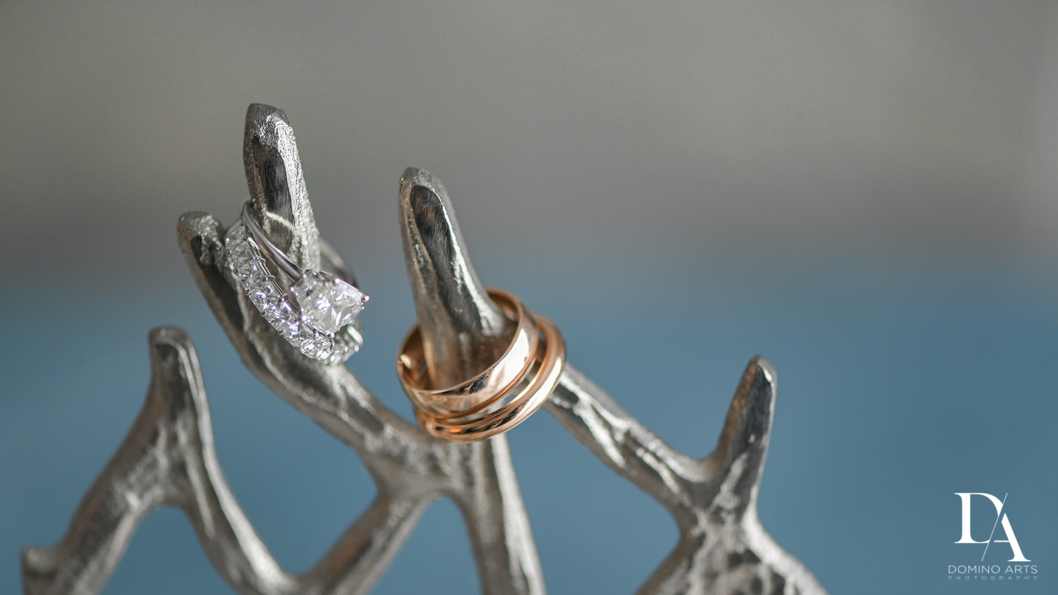 wedding rings at Tropical Luxury Jewish Wedding in Miami Beach by Domino Arts Photography