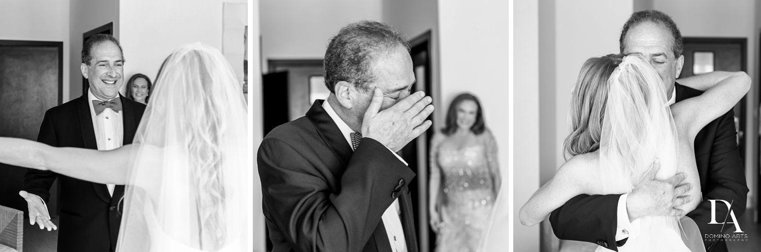 father of bride at Tropical Luxury Jewish Wedding in Miami Beach by Domino Arts Photography