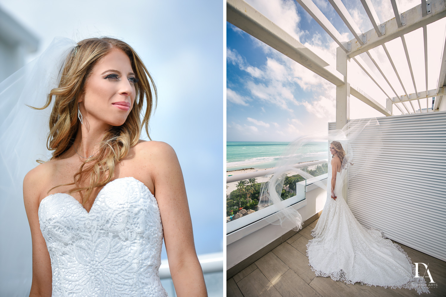 beautiful bride at Tropical Luxury Jewish Wedding in Miami Beach by Domino Arts Photography
