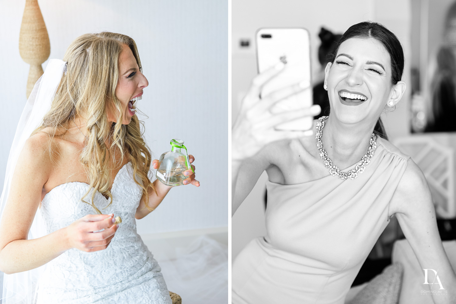 fun bride at Tropical Luxury Jewish Wedding in Miami Beach by Domino Arts Photography