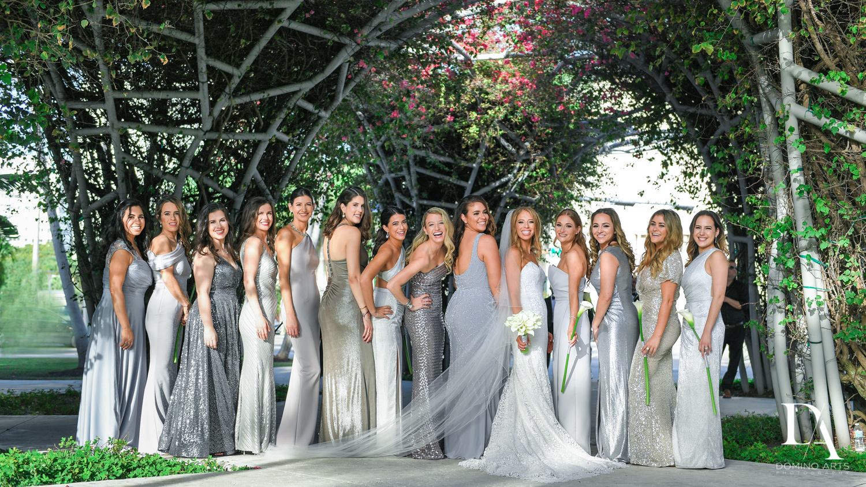 bridal party at Tropical Luxury Wedding at Temple Emmanu-El in Miami Beach