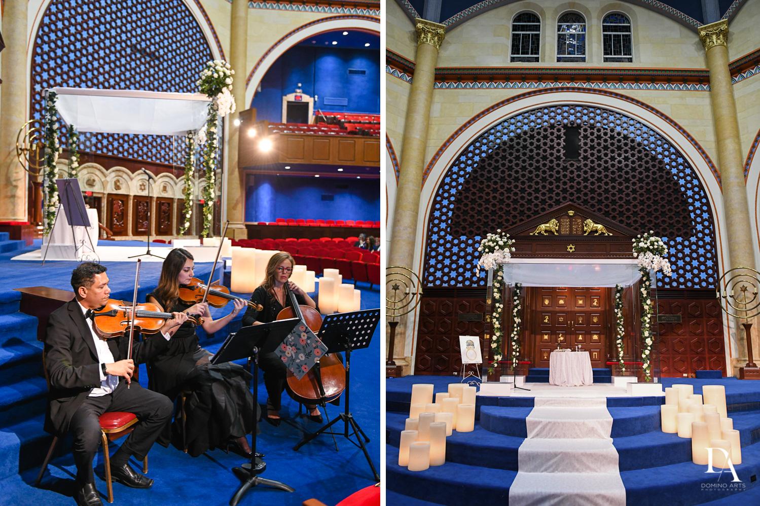 jewish wedding at Tropical Luxury Wedding at Temple Emmanu-El in Miami Beach