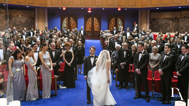 jewish traditions at Tropical Luxury Wedding at Temple Emmanu-El in Miami Beach