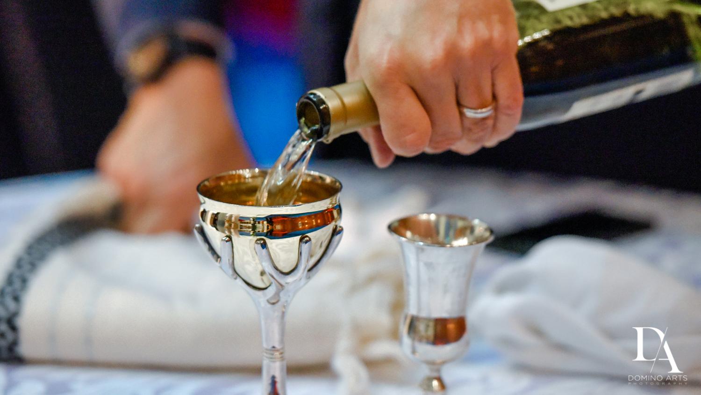 wine at Tropical Luxury Wedding at Temple Emmanu-El in Miami Beach