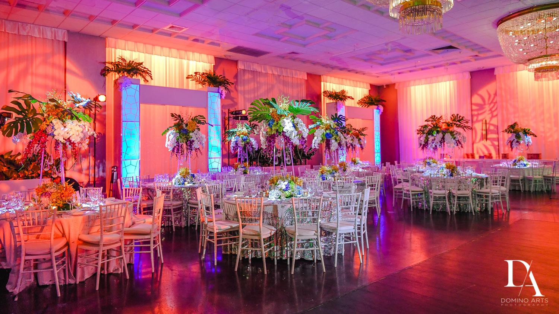best decor at Tropical Luxury Wedding at Temple Emmanu-El in Miami Beach