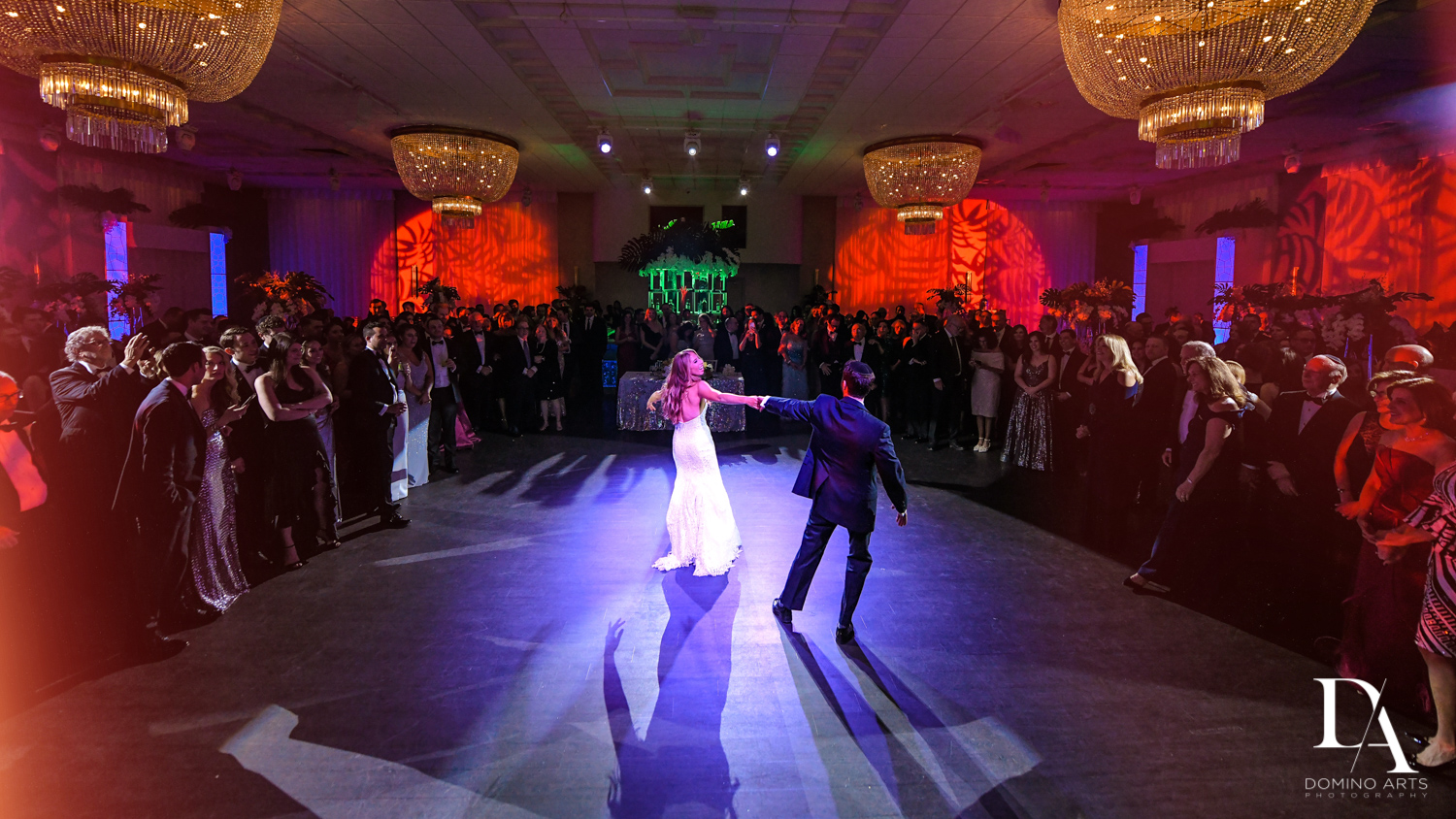 first dance at Tropical Luxury Wedding at Temple Emmanu-El in Miami Beach
