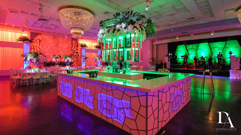 colorful custon bar at Tropical Luxury Wedding at Temple Emmanu-El in Miami Beach