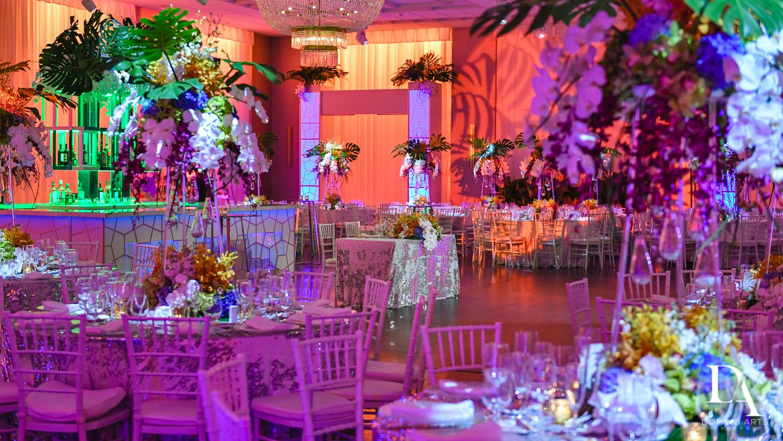 most amazing decor at Tropical Luxury Wedding at Temple Emmanu-El in Miami Beach