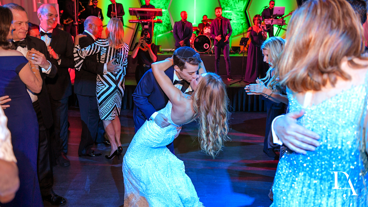 couples dance at Tropical Luxury Wedding at Temple Emmanu-El in Miami Beach