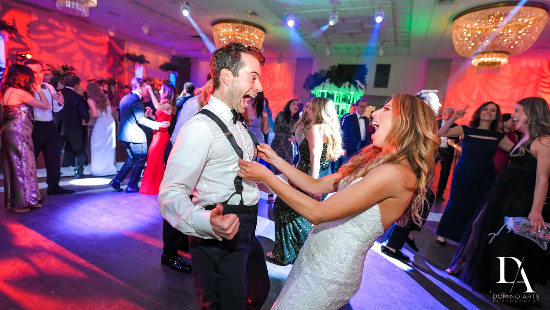 fun party at Tropical Luxury Wedding at Temple Emmanu-El in Miami Beach