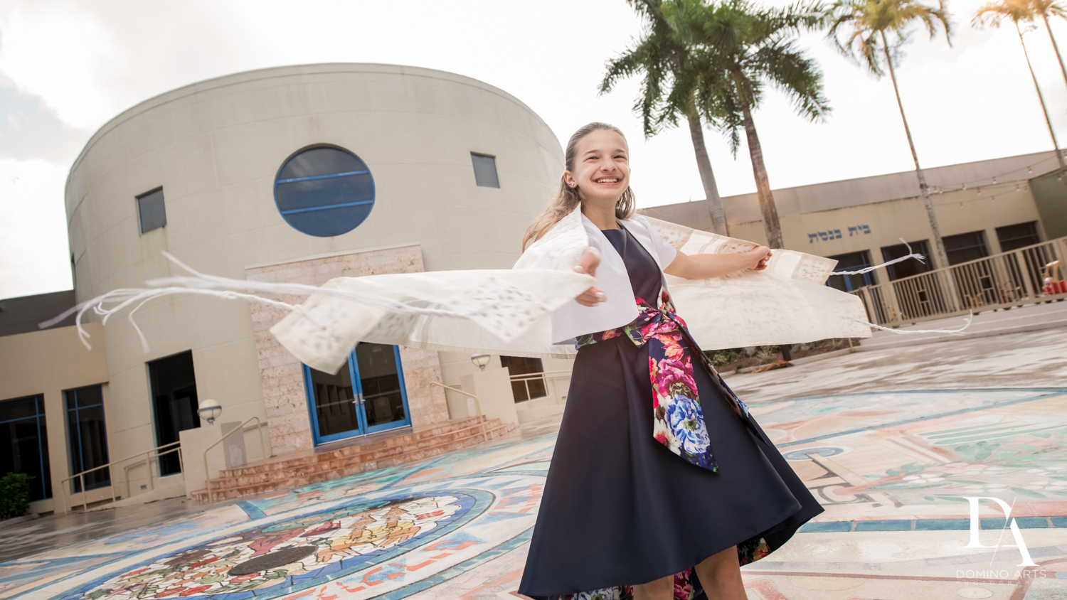 portraits at Madeline in Paris theme Bat Mitzvah at Boca Raton Resort and Club by Domino Arts Photography