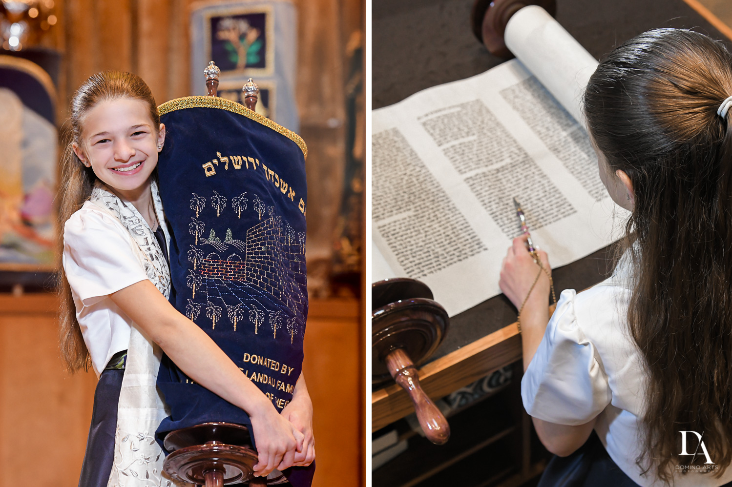 torah at Madeline in Paris theme Bat Mitzvah at Boca Raton Resort and Club by Domino Arts Photography