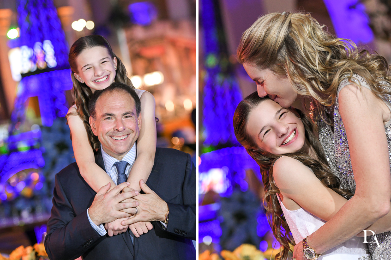 parent portraits at Madeline in Paris theme Bat Mitzvah at Boca Raton Resort and Club by Domino Arts Photography