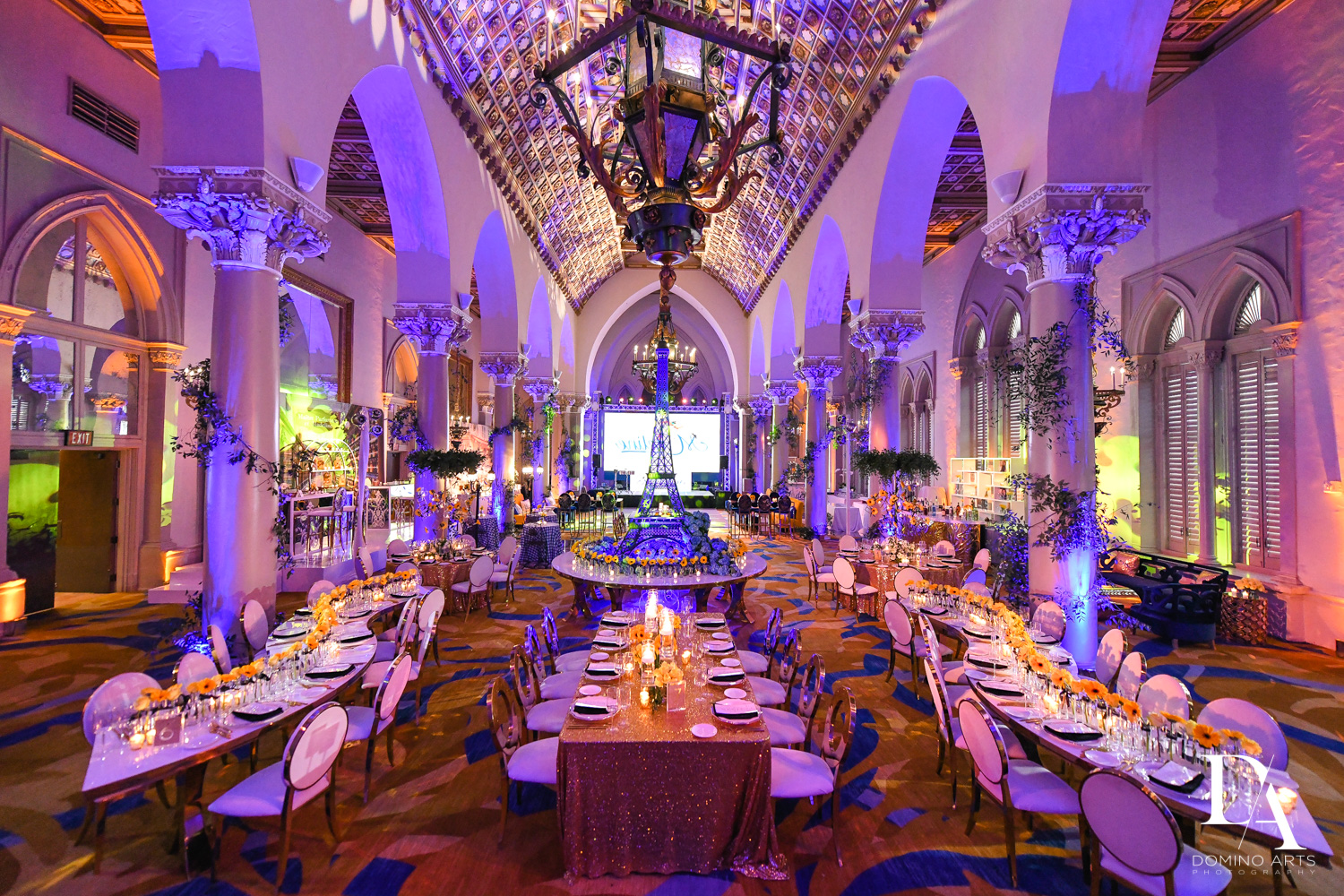 best decor and venue for Madeline in Paris theme Bat Mitzvah at Boca Raton Resort and Club by Domino Arts Photography
