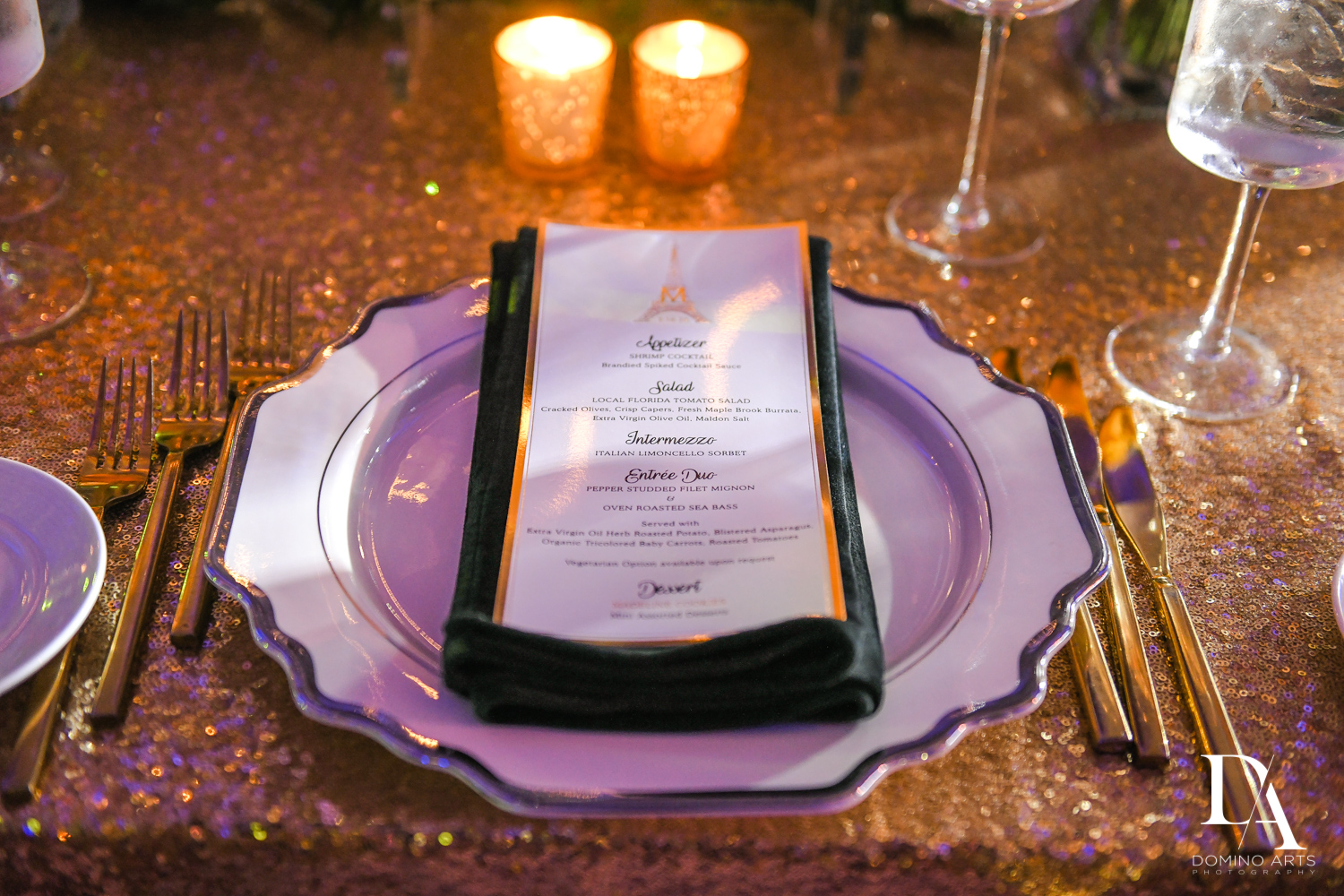 custom menu for Madeline in Paris theme Bat Mitzvah at Boca Raton Resort and Club by Domino Arts Photography