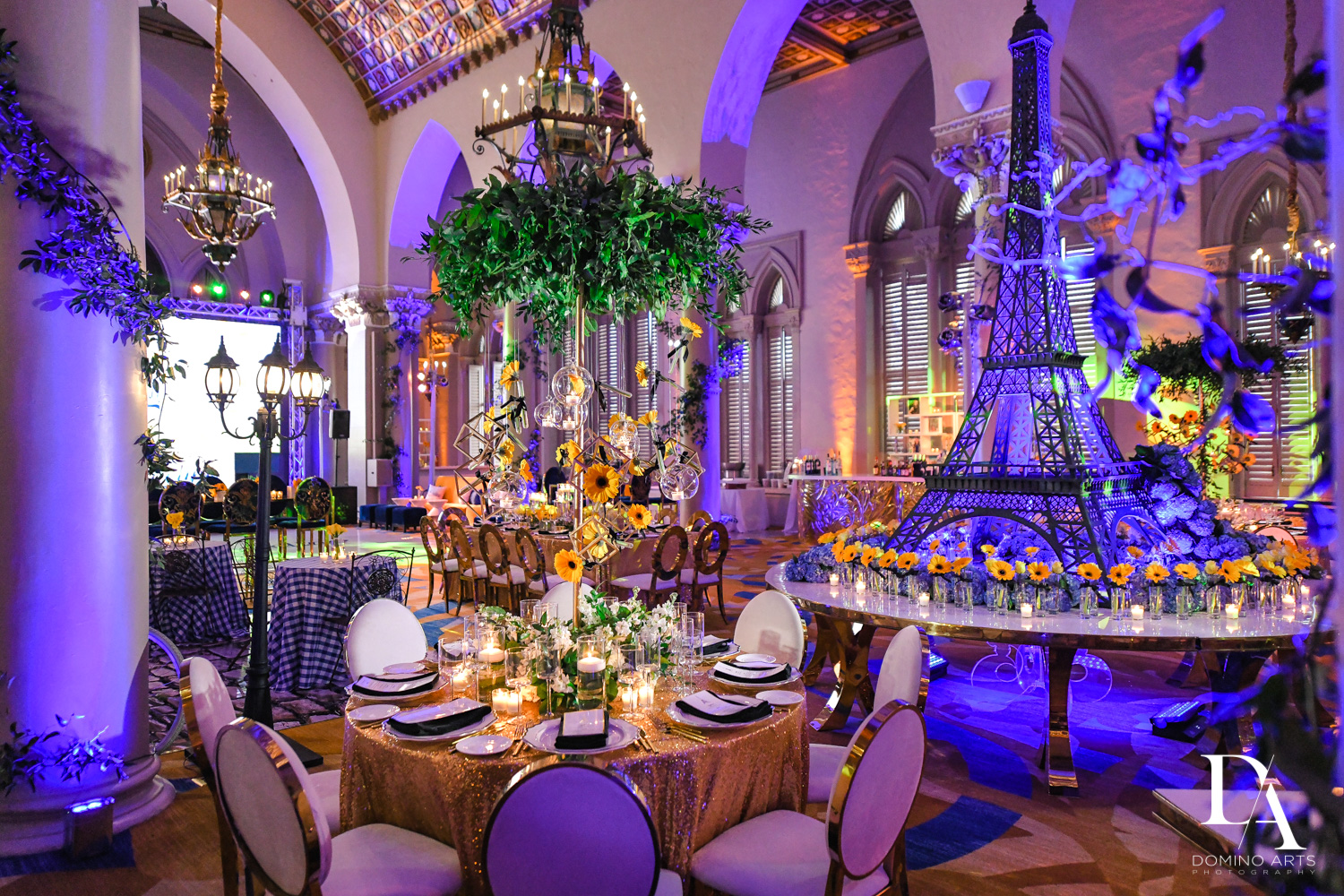 luxury decor at Madeline in Paris theme Bat Mitzvah at Boca Raton Resort and Club by Domino Arts Photography