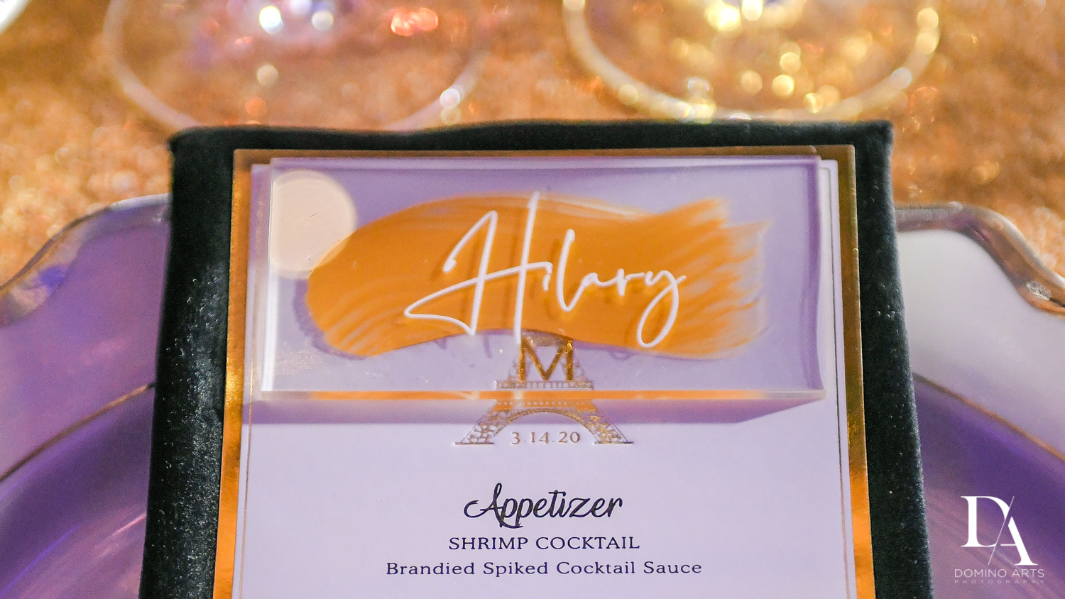 custom menu at Madeline in Paris theme Bat Mitzvah at Boca Raton Resort and Club by Domino Arts Photography