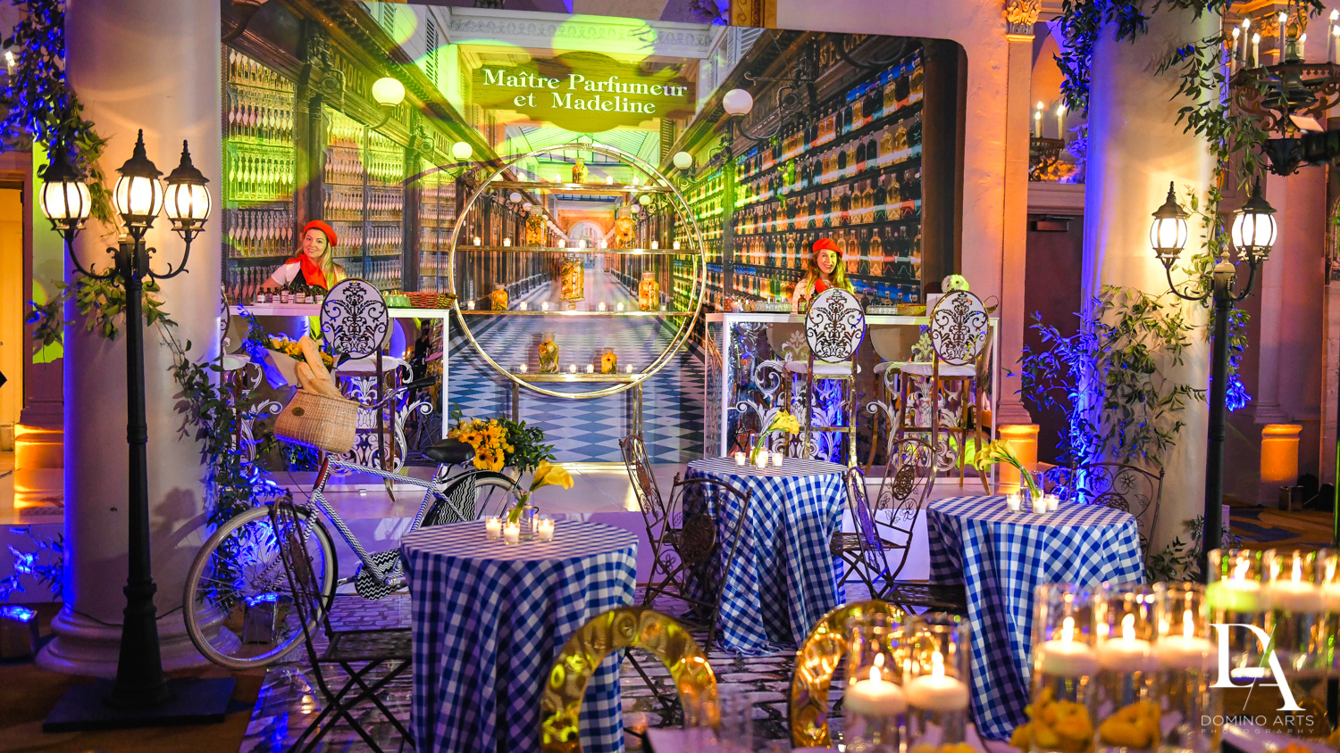 theme decor for Madeline in Paris theme Bat Mitzvah at Boca Raton Resort and Club by Domino Arts Photography