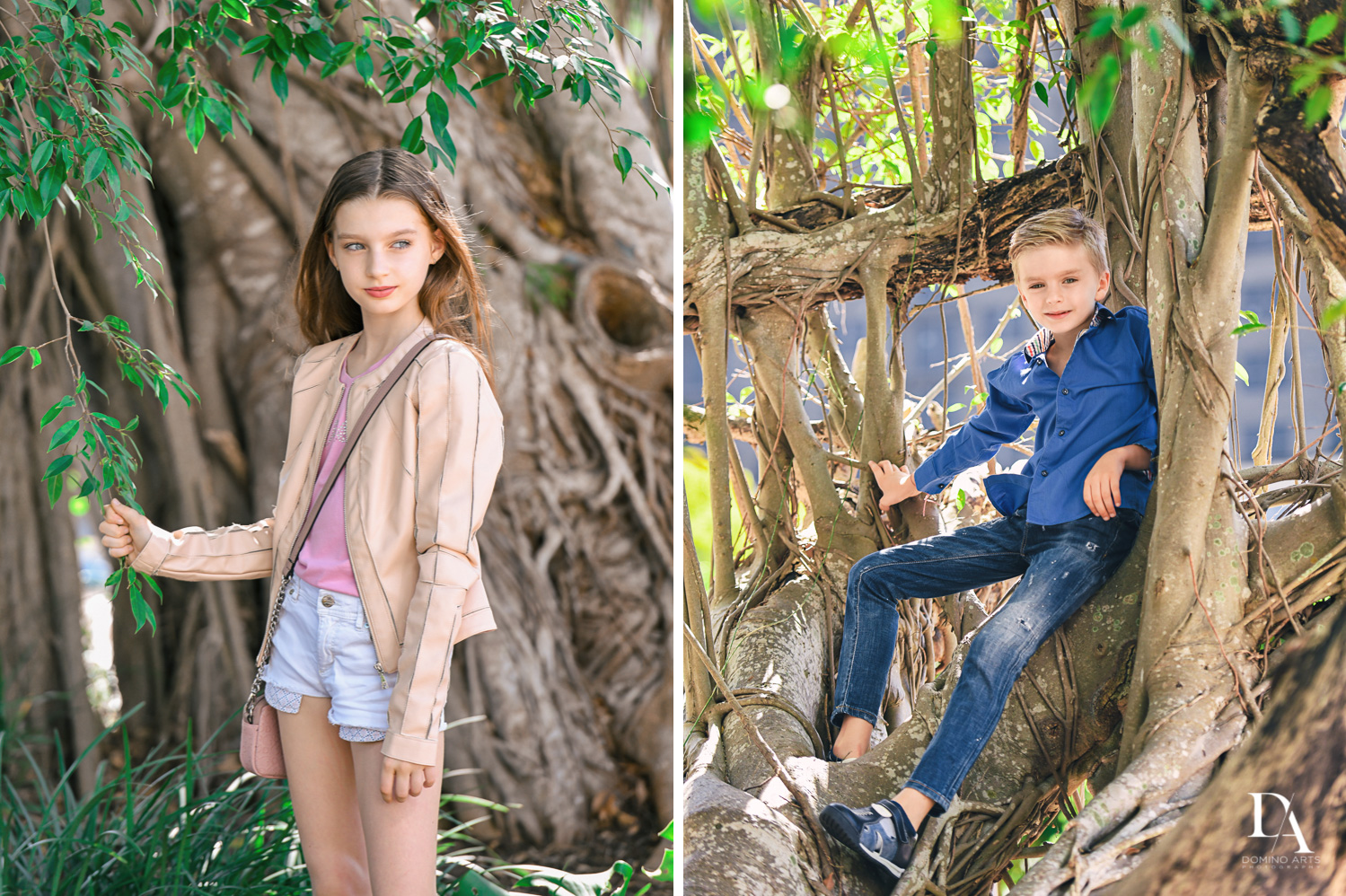 kids at Family Photo Session Riverwalk Fort Lauderdale by Domino Arts Photography