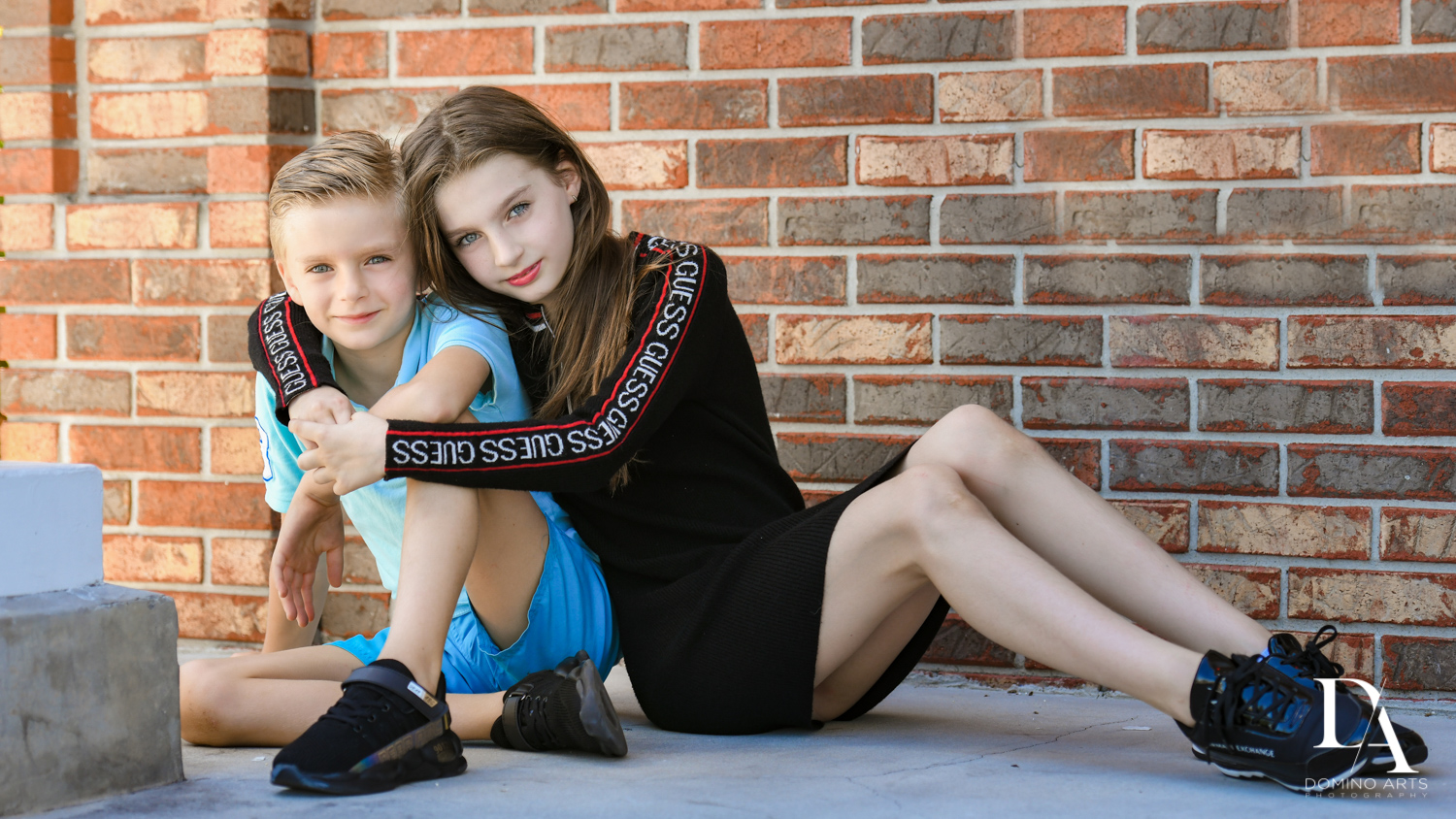 sibling love at Family Photo Session Riverwalk Fort Lauderdale by Domino Arts Photography