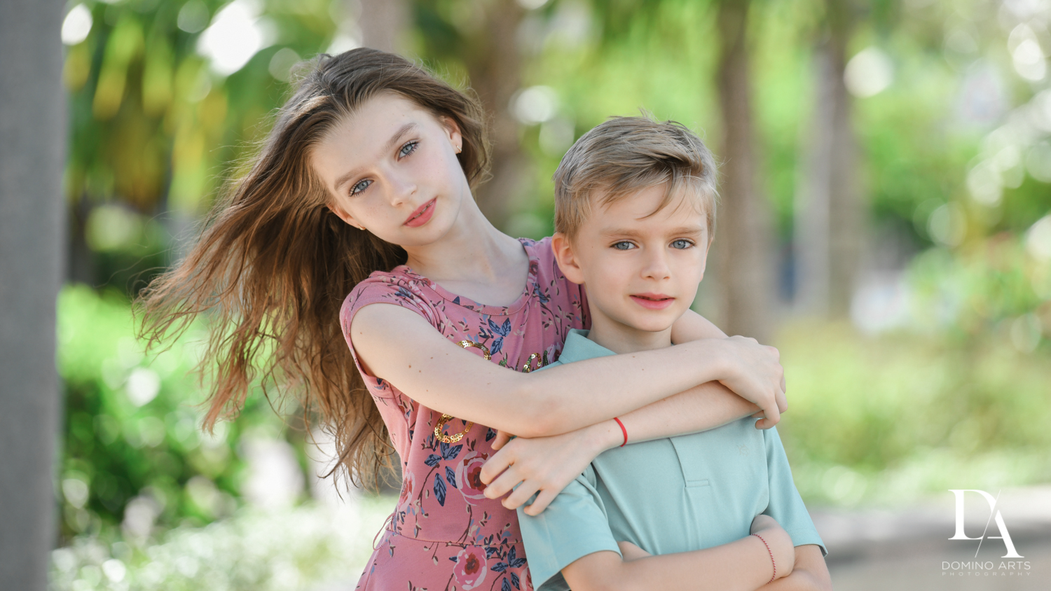 siblings pictures at Family Photo Session Riverwalk Fort Lauderdale by Domino Arts Photography