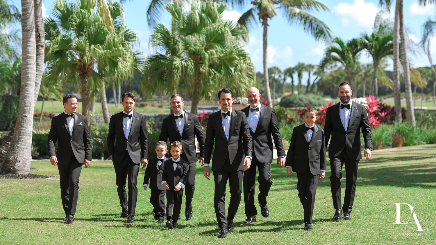 groomsmen portrait at Stunning Golf Course Wedding at PGA National Palm Beach by Domino Arts Photography
