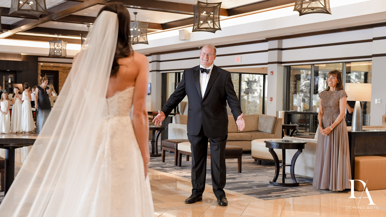 first dad look at Stunning Golf Course Wedding at PGA National Palm Beach by Domino Arts Photography