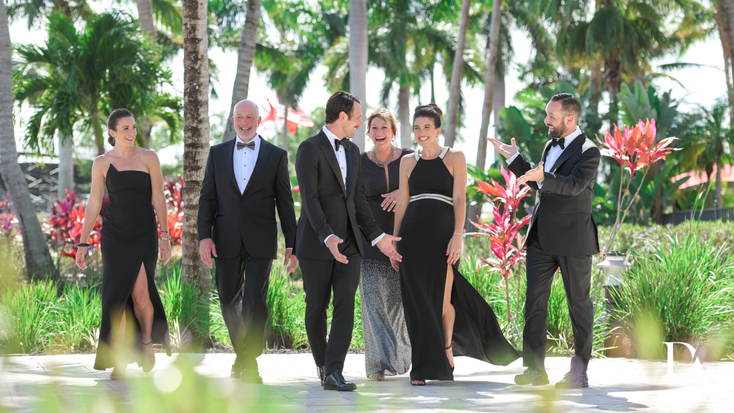 grooms family at Stunning Golf Course Wedding at PGA National Palm Beach by Domino Arts Photography