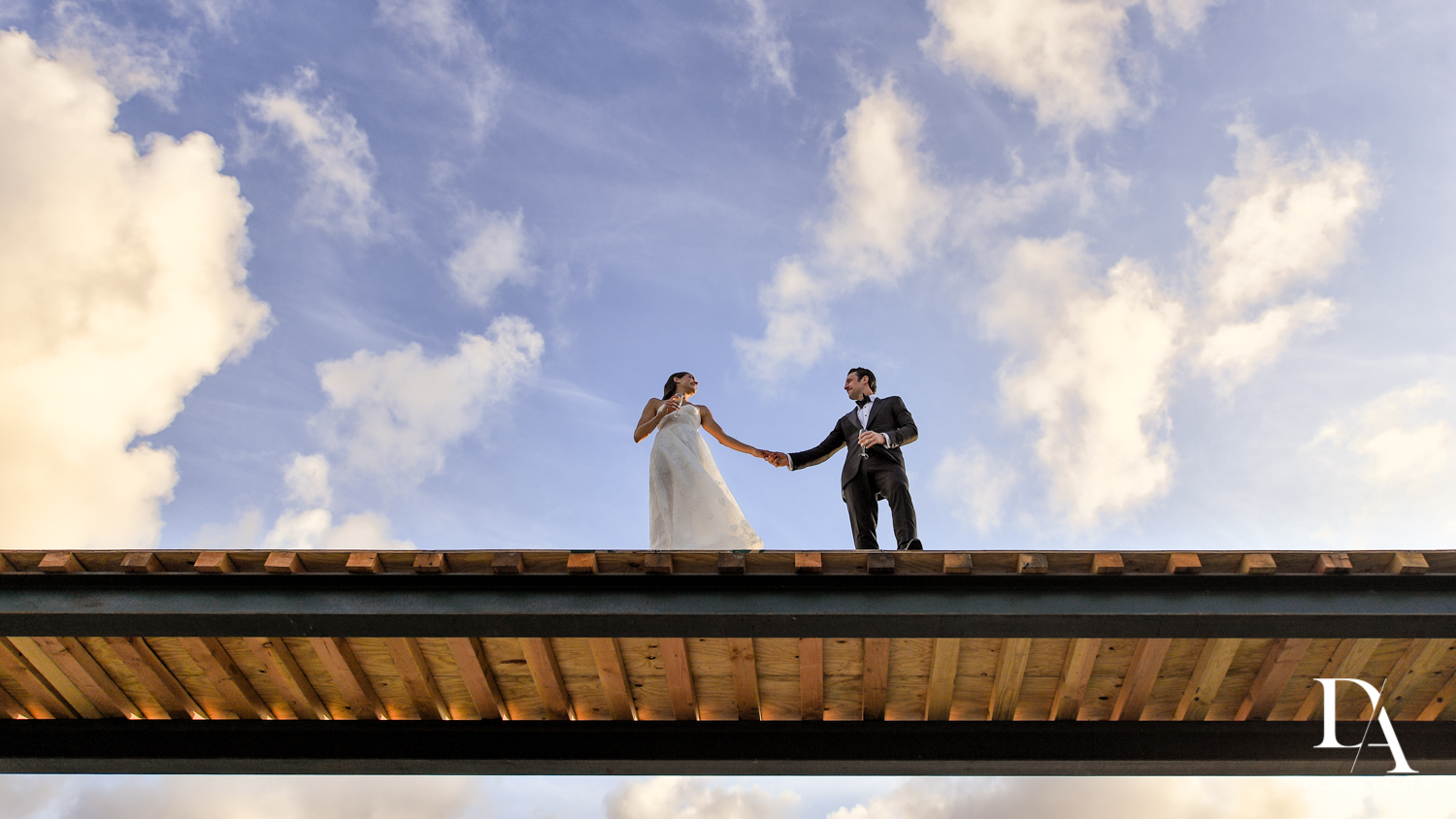 blue sky at Stunning Golf Course Wedding at PGA National Palm Beach by Domino Arts Photography