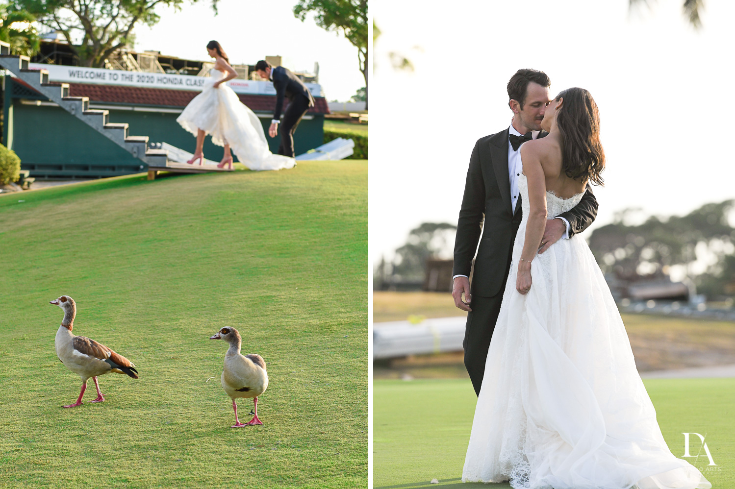 romantic photos at Stunning Golf Course Wedding at PGA National Palm Beach by Domino Arts Photography