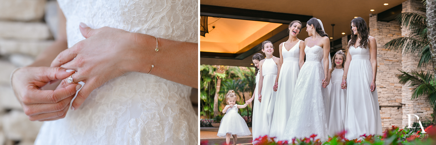 flower girls at Stunning Golf Course Wedding at PGA National Palm Beach by Domino Arts Photography