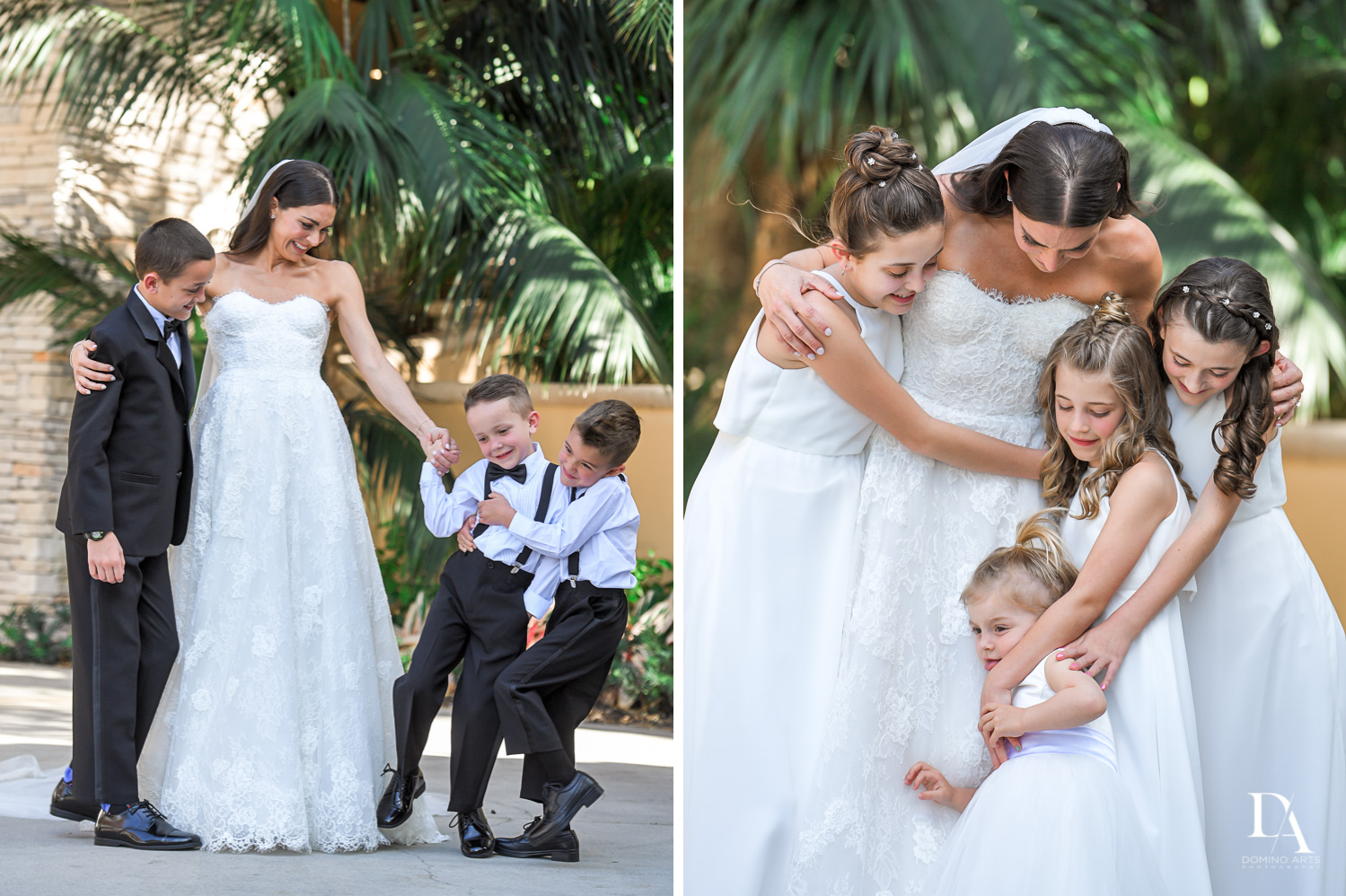 fun kids at Stunning Golf Course Wedding at PGA National Palm Beach by Domino Arts Photography