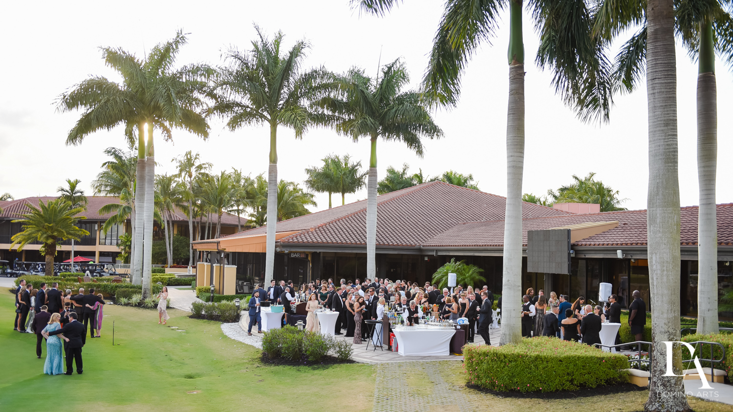 outdoor cocktail hour at Stunning Golf Course Wedding at PGA National Palm Beach by Domino Arts Photography